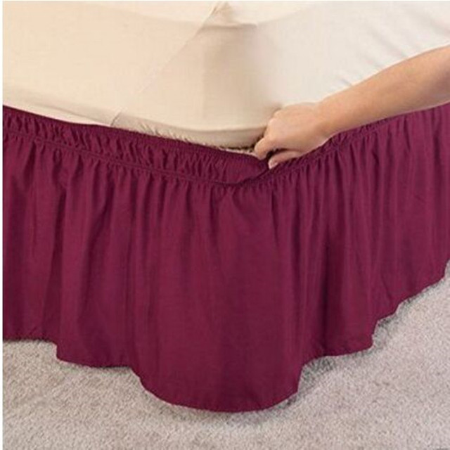 Purple Red Without Bed Surface Elastic Band Bed Skirt Twin Full