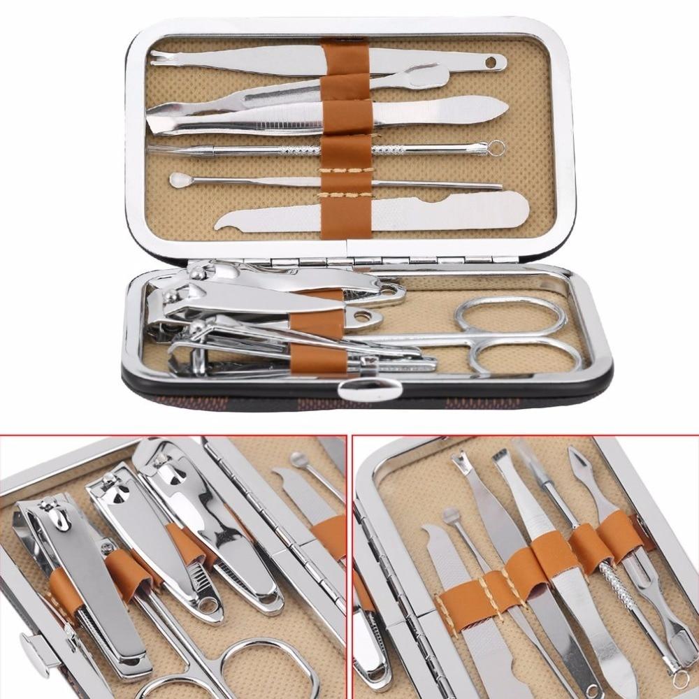 10PCS/Set Universal Manicure Set Stainless Steel