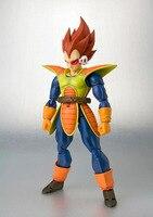 Dragon Ball Z S H Figuart Vegeta Scouter Cabelo vermelho SHF Vegeta Action Figure Toy Modelo Figura