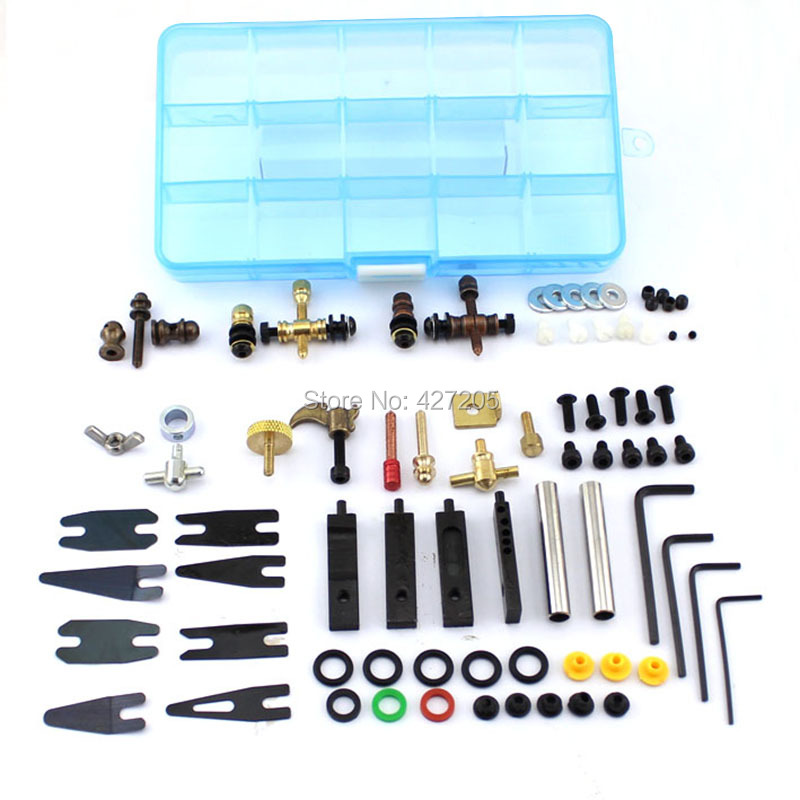 9191 Pro DIY Kit of Tattoo Parts and Accessories for Tattoo Machine Repair and Maintain Tattoo Kits Supplies Free Shipping yamaha pneumatic cl 16mm feeder kw1 m3200 10x feeder for smt chip mounter pick and place machine spare parts