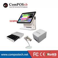 좋은 흰색 POS 시스템 15 인치 터치 스크린 결제/POS/레스토랑 금전 등록기 무료 배송