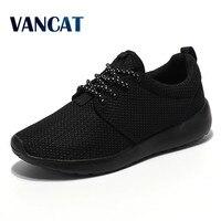 2017 Men Casual Shoes Spring Summer Black Colors Couple Flats Shoes Air Mesh Breathable Men ShoesZapatillas