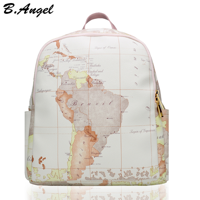 High quality unisex world map backpack casual women backpack leather high quality unisex world map backpack casual women backpack leather men backpack school bag mochila travel gumiabroncs Images
