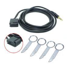 1 conjunto 6000cd AUX-IN adaptador de fio estéreo do carro 6000-cd aux cabo para ford fiesta focus 6000 cd dorp grátis