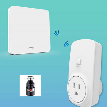 Garbage Disposal Wireless Switch US Plug Air Switch Replace Remote Control Waste King InSinkErator No Pipe No Drilling Easy Use