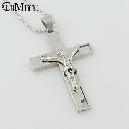 CHIMDOU Fashion Stainless Steel Cross Pendant Necklace Men Jewelry 2018 Christmas Gift Party, High Quality For Men AP653