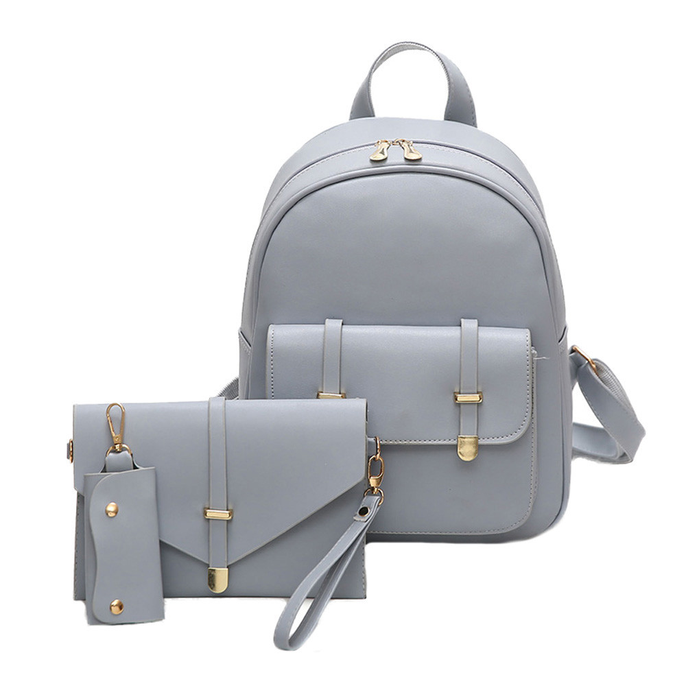a22193e37c8 Aelicy Luxury Fashion Backpack Shoulder Bag Three Sets Multifunction Women  Leather Backpacks Designers School Bags for girls #172730