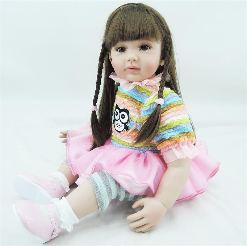 58cm Baby Alive Silicone Reborn Baby Toddler longhair Princess Girl Dolls Toys for Children Girls Adorable play house toys58cm Baby Alive Silicone Reborn Baby Toddler longhair Princess Girl Dolls Toys for Children Girls Adorable play house toys