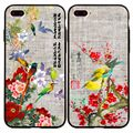 Luminous Cartoon Case for iPhone 5 5s SE 6 6s 6Plus 7 7Plus Cover Cute Bird Flower Leaves TPU Soft Phone Back Fundas Coque