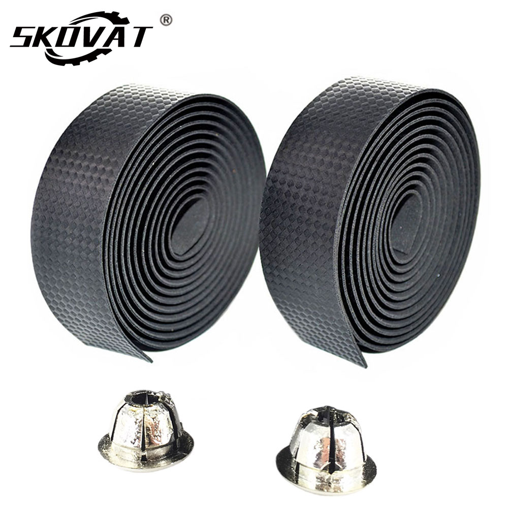 SKOVAT Cycling Road Bike Handlebar Tape Anti-slip Bicycle Handle Bar Tapes Wrap Cork Guidoline Fixing Straps Bicycle Accessories