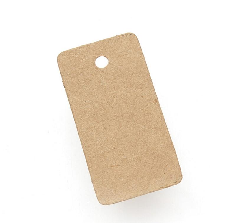 300Pcs New Brown Kraft Paper Tags Label Luggage Wedding Note DIY Blank price Hang tag Kraft Gift Wholesale