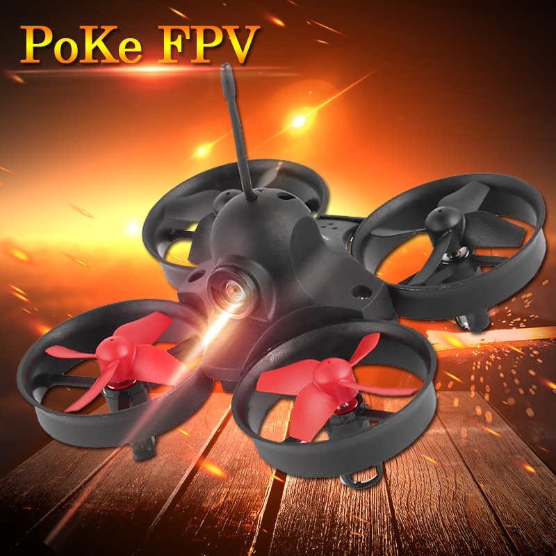 Drones with camera hd Mini rc helicopter PoKe FPV 5.8G 25mW Camera Headless Mode Indoor Racing RTF Quadcopter xk rc drone dron 2 4ghz 4ch fpv headless mode rtf quadcopter with hd camera 1080p drones with gps brushless motor rc helicopter