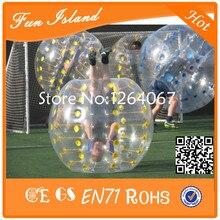 Бесплатная доставка 6 шт. + 1 насос человека надувной бампер bubble ball, бампер мяч для спорта