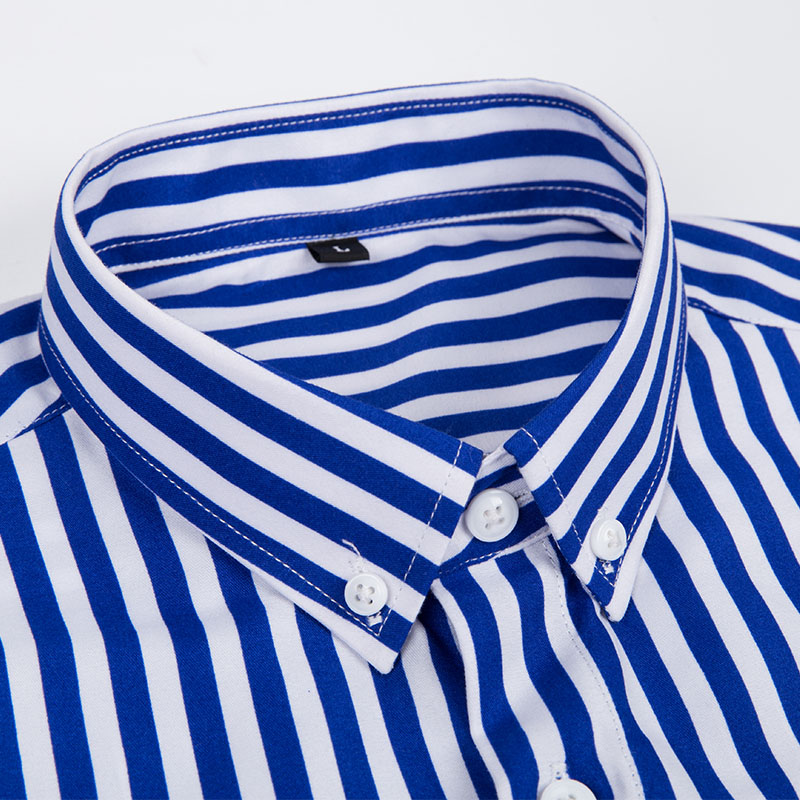 4ff3748c456 GUEQI Men Fashion Striped Shirts Plus Size M 4XL Candy Colors Long Sleeve  Business Man Casual Cotton Dress Shirts-in Casual Shirts from Men s Clothing  on ...