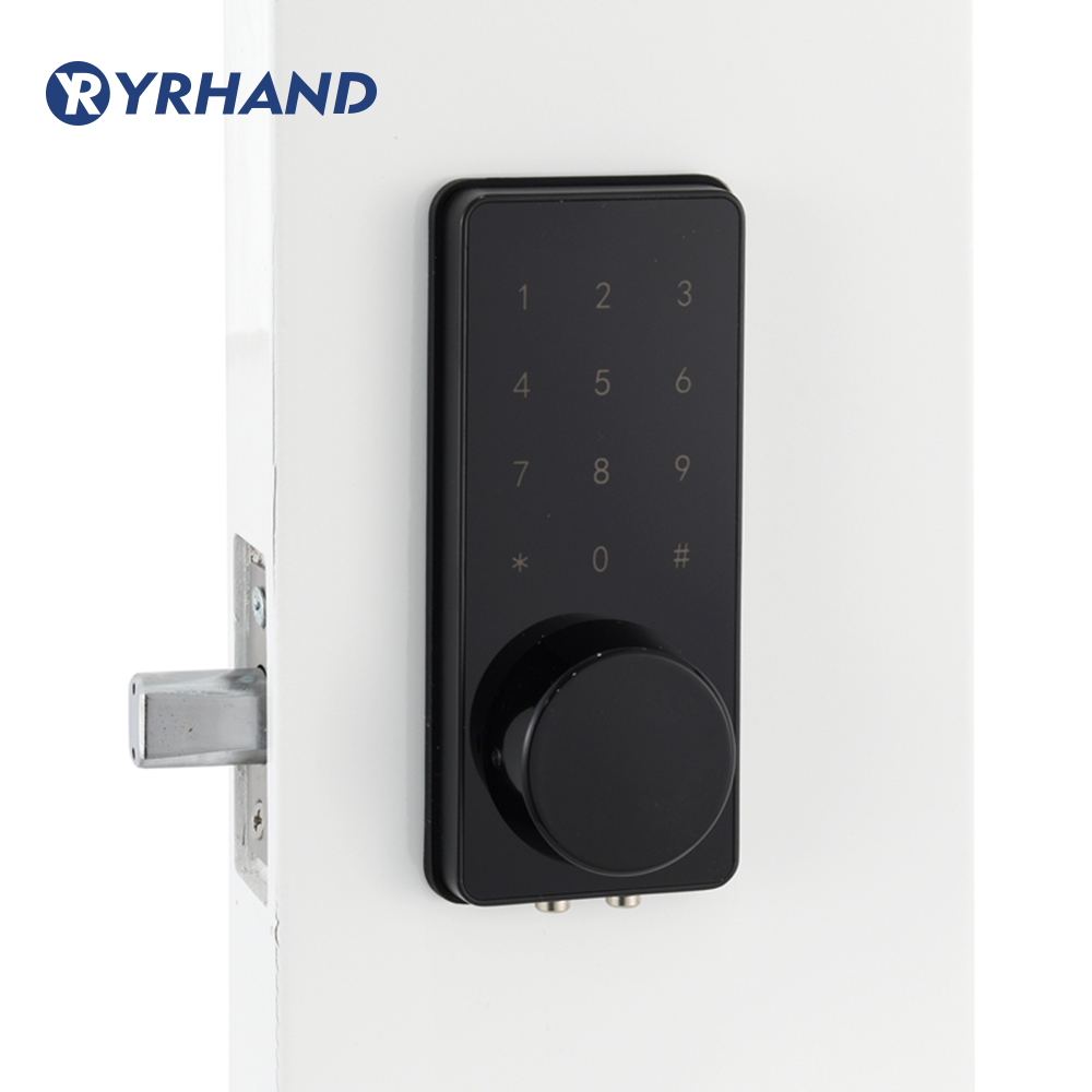Keyless Digital Door lock  Mini Electronic deadbolt Card Code Door Lock Unlock With Code,M1 Card, And Mechanical Key-in Electric Lock from Security & Protection    1