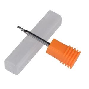 Image 2 - 10 cái/bộ 2.0X6mm Tungsten Carbide Solide Đơn Flute Sprial Bits Trái Bàn Tay Xuống Cắt Công Cụ Trái Cắt bits