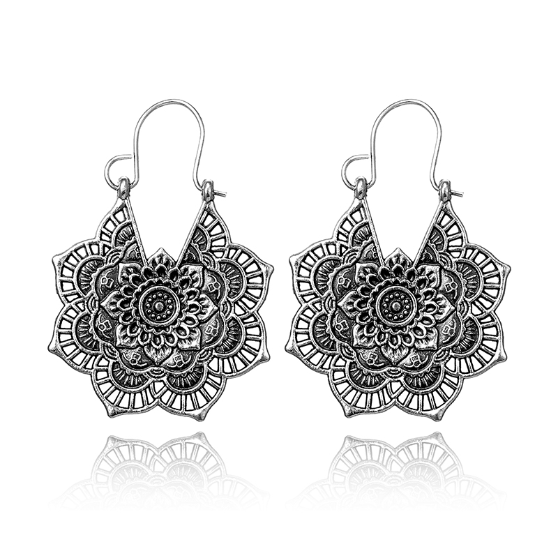 Women's Lace Mandala Drop Earrings 2