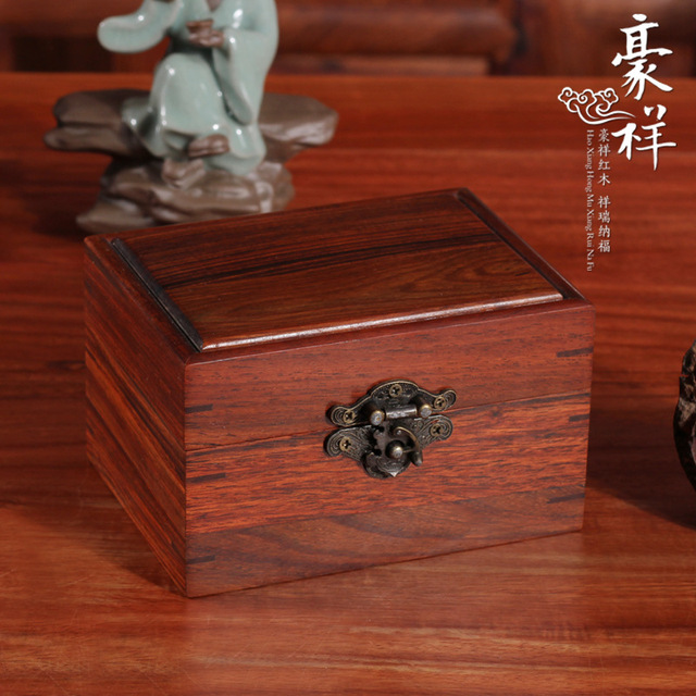 Rosewood Clamshell Storage Box Jewelry Box Small Solid Mahogany Wood  Jewelry Box Jade Box Decoration Crafts