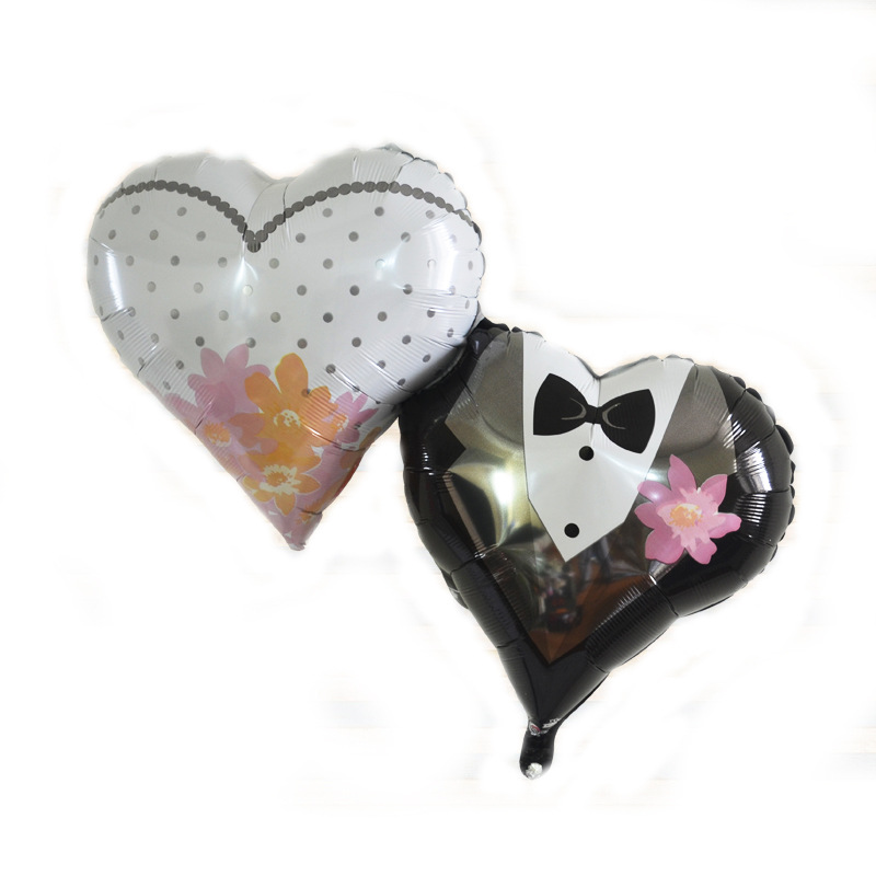 36 Inches Formal Dreess Wedding Decorations Heart Bride And Groom