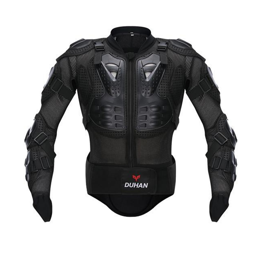 Free shipping 1pcs New DUHAN Motorcycle Bike Full Body Armor Jacket Gear Chest Shoulder Protection for yamaha motorcycle jacket cross country clothing motorcycle black jacket free shipping giving protection summer