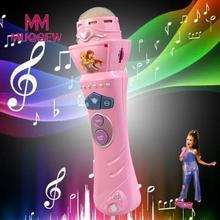 Беспроводной светодиодный микрофонные Игрушки для девочек Микрофон Караоке Пение детский подарок музыкальные игрушки Детские Музыкальные инструменты для детей# S