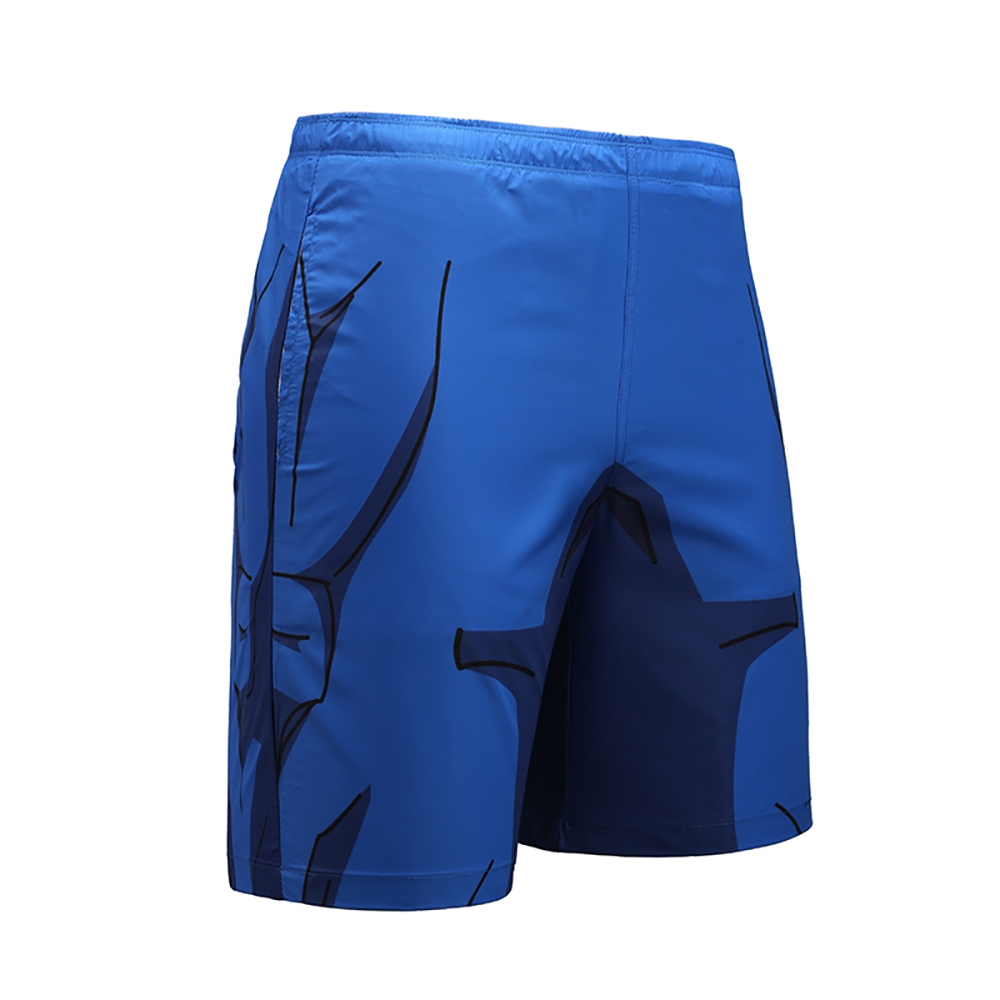 Royal Blue Brand   Board     Shorts   Men Breathable Sport Swimming   Shorts   Geometric Elastic Waist Beach   Shorts   Summer Swim   Shorts