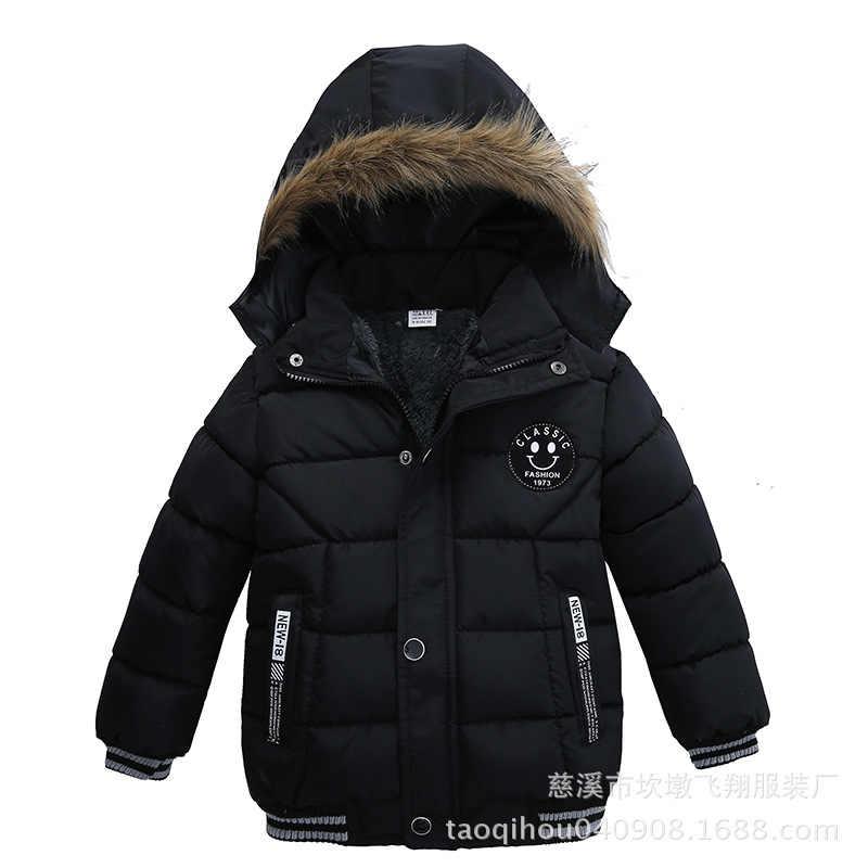 Куртка для мальчиков зимние хлопковые детские пальто с длинными рукавами для маленьких мальчиков, парка пуховик с капюшоном для мальчиков, одежда верхняя одежда для маленьких детей