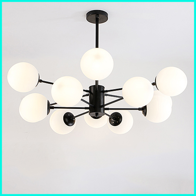 Porcelain glass ball living room dining room bedroom lighting LED Nordic style creative clothing store art decoration