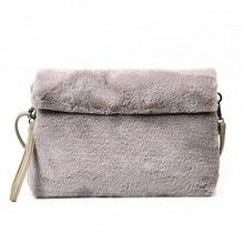 2017 beutel weiblichen Koreanischen weiblichen handtasche plüsch-wildes minimalistische schultertasche Messenger bag flut plüsch kapazität