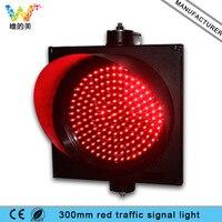 Luz de tráfego wdm 300mm um aspecto vermelho pisca led|traffic light|traffic light light|light traffic -