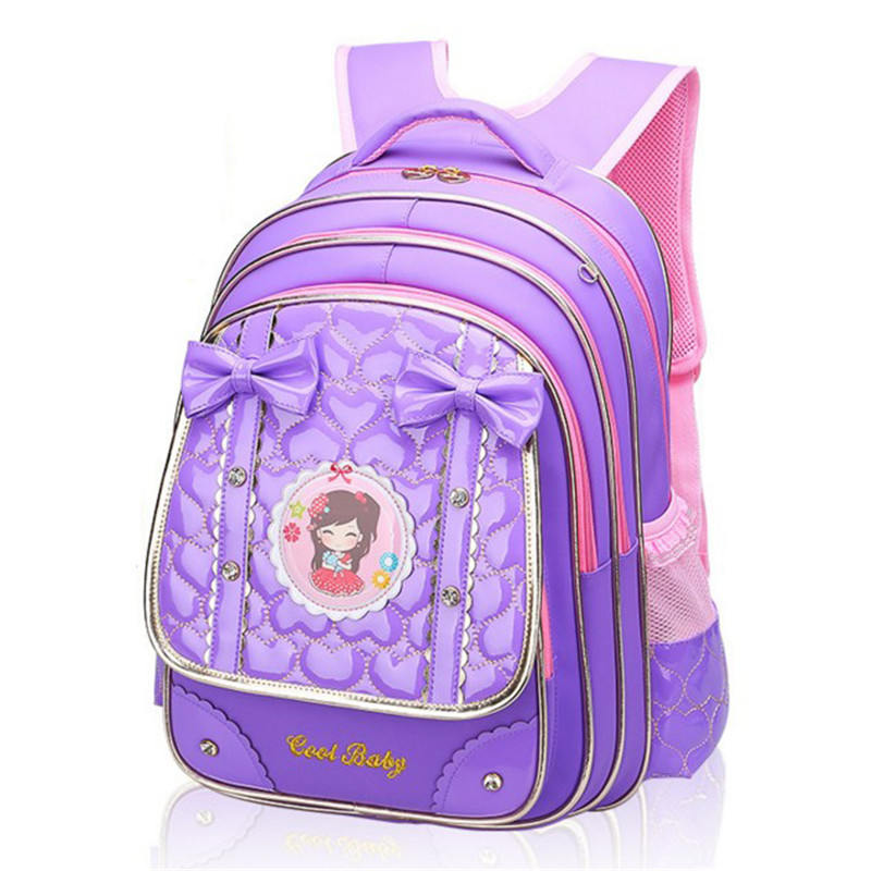 New Fashion Children School Bags High Quality PU Backpack Girls casual best backpack wat ...