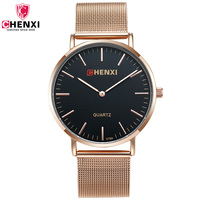 Mens Wrist Watches Man S Fashion Business Rose Gold Stainless Steel Mesh Strap Male Clock Top