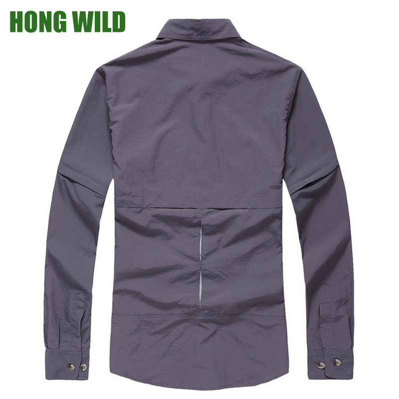 Outdoor Hiking Shirt Men Anti UV Proof Quick drying Long Sleeve ...