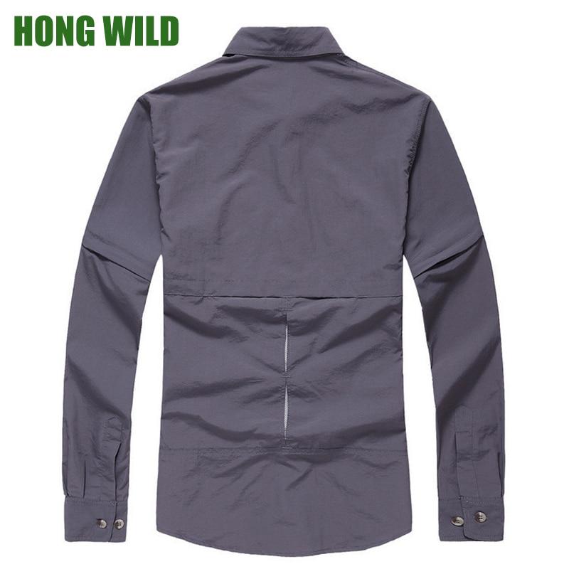 Outdoor Hiking Shirt Men Anti UV Proof Quick drying Long Sleeve ...