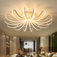 Dimming Remote Control Living Study Room Bedroom Modern Led Chandelier White Color Surface Mounted Led Chandelier