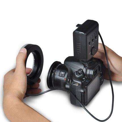 Aputure Amaran Halo AHL-H100 CRI 95+ LED Macro Ring Flash Light AF-Assist 49-77mm Lens Adapter Ring for Nikon SLR Camera aputure amaran hn100 cri 95 halo ring 6w 1020lm 5500k 100 led flash lamp for nikon cameras black