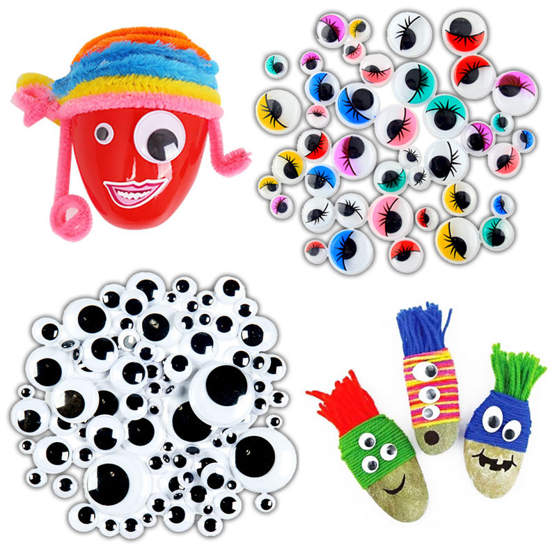 300 Pcs Small Colorful Black Eyes Stickers for Doll Plush Stuffed Cup Car Painting DIY Accessories DIY Assembling Toys Wholesale diy diamond painting diy c56310443