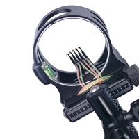 Compound Bow Sight 5 Pin Micro Adjustable Archery Sight Hunting Shooting Accessories
