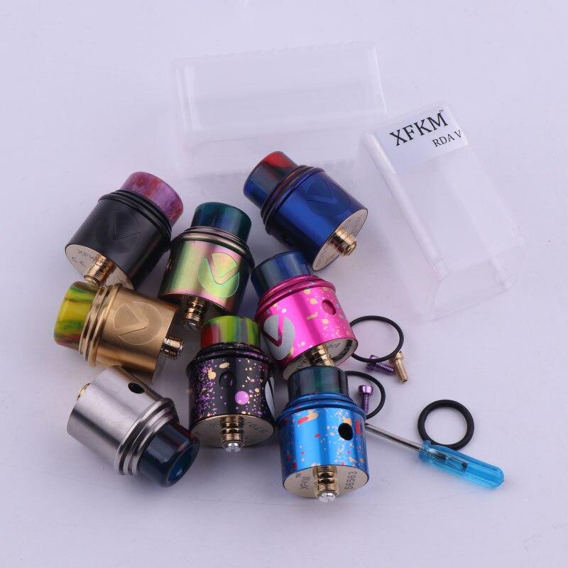 XFKM Nuovo RDA Atomizzatore RDA V 510 fili Con Largo Bore Drip Tip 24mm sigaretta elettronica atomizzatore RDA VS Apocalypse GEN 2