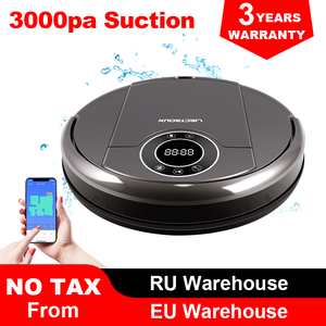 Image 1 - LIECTROUX ZK808 Robot Vacuum Cleaner,WiFi App,Map Display, 3000pa Suction,Smart Memory,Wet Dry Mop for Pet Hair and Floor&Carpet