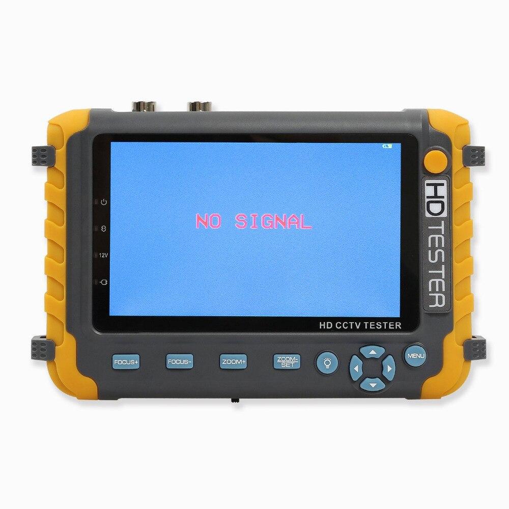 5 Inch 4 In 1 HD CCTV Tester Monitor AHD CVI TVI CVBS Camera Tester 8MP 1080P VGA HDMI Input PTZ UTP Cable Tester 12V
