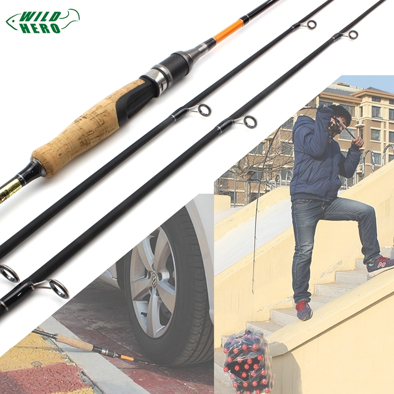 Lowest profit Fishing Rod 1.8M Carbon Rod MH/M 2 Tips 10-28g Spinning Rod Casting Light Jigging Rod 2 Sections fishing pole(China)