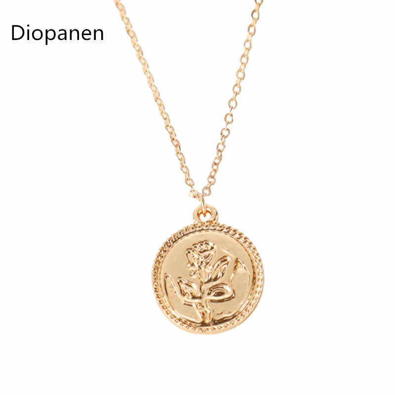 2019 New Fine Necklace Single Layer Rose Pattern Simple Overwatch Long Necklace Wholesale Steampunk Necklace For Women