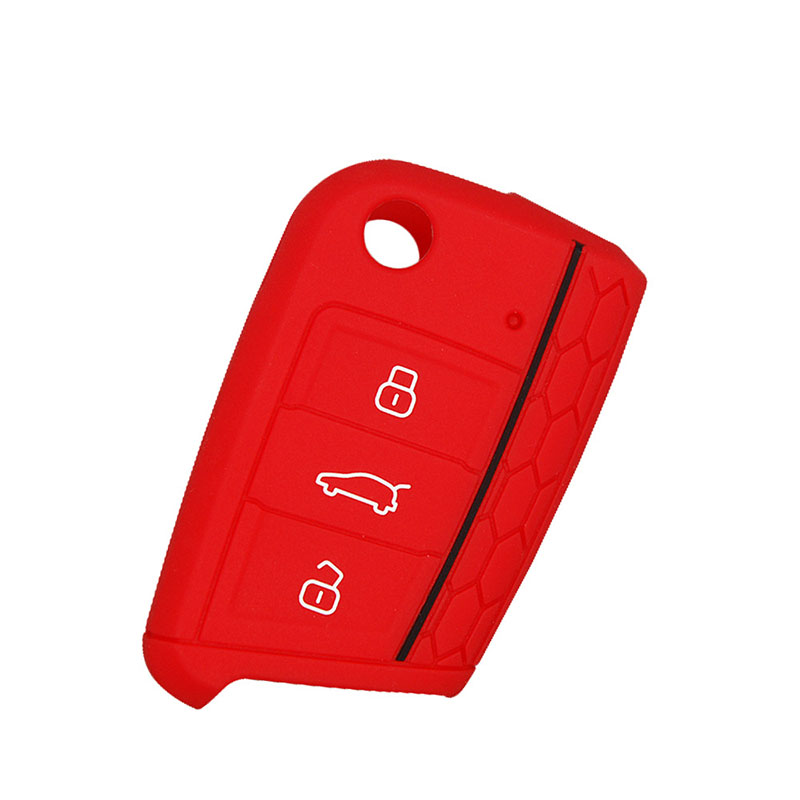 car accessories key cover For vw Volkswagen Polo Golf 7 Tiguan for Octavia Kodiaq Karoq for Ateca Leon Ibiza 2015 2016 2017 in Key Case for Car from Automobiles Motorcycles