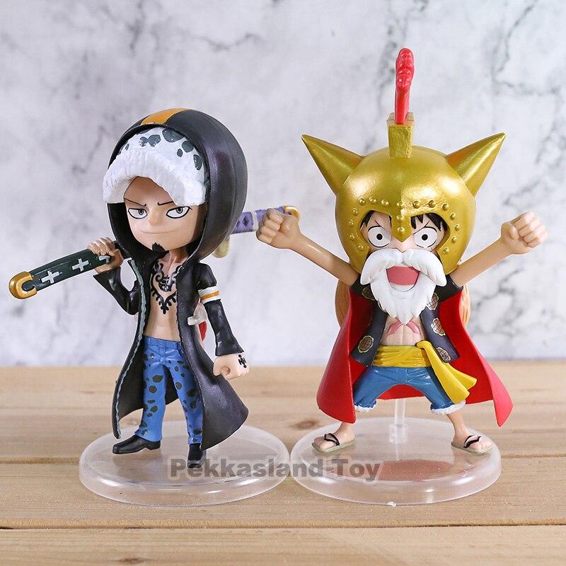 Anime di Un Pezzo Dressrosa Scimmia D Luffy Lucy/Trafalgar Law 15th Anniversary PVC Figure Da Collezione Model Toy