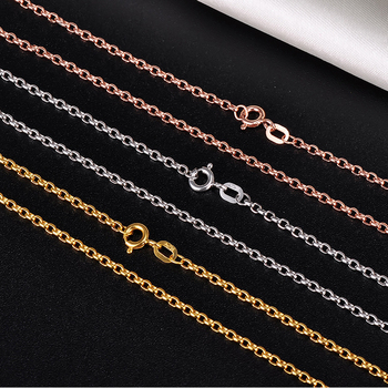 18K Pure Gold Necklace Real AU 750 Solid Gold Chain Simple Beautiful Upscale Trendy Classic Party Fine Jewelry Hot Sell New 2020 4