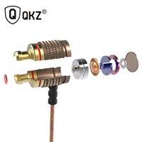 QKZ DM6 Earphone Special Edition Ear Earphones HIFI Headset Music Headset Bass Gold Plated fone de ouvido auriculares audifonos