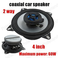 Auto Door Component Speakers 1pair 4 Inch 2 Way 2x60W Perfect Processor Surrounding Music Coaxial Car