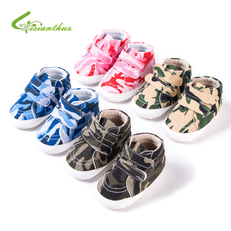 Baby Canvas Sports Sneakers Newborn Boys Girls Camouflage Style First Walkers Shoes Infant Toddler Soft Sole Anti-slip Baby Shoe
