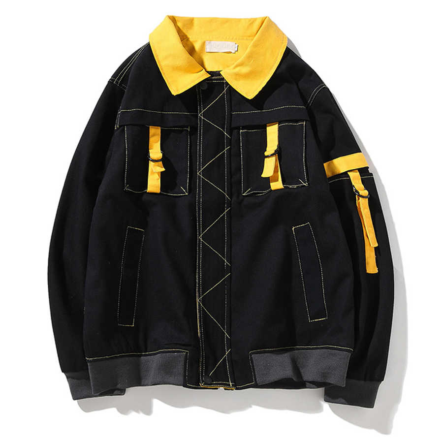 2001b459384 High Fashion Jackets Men japanese Streetwear Cargo Vintage Windbreaker  Coaches Jaqueta Masculina Mens Jackets And Coats